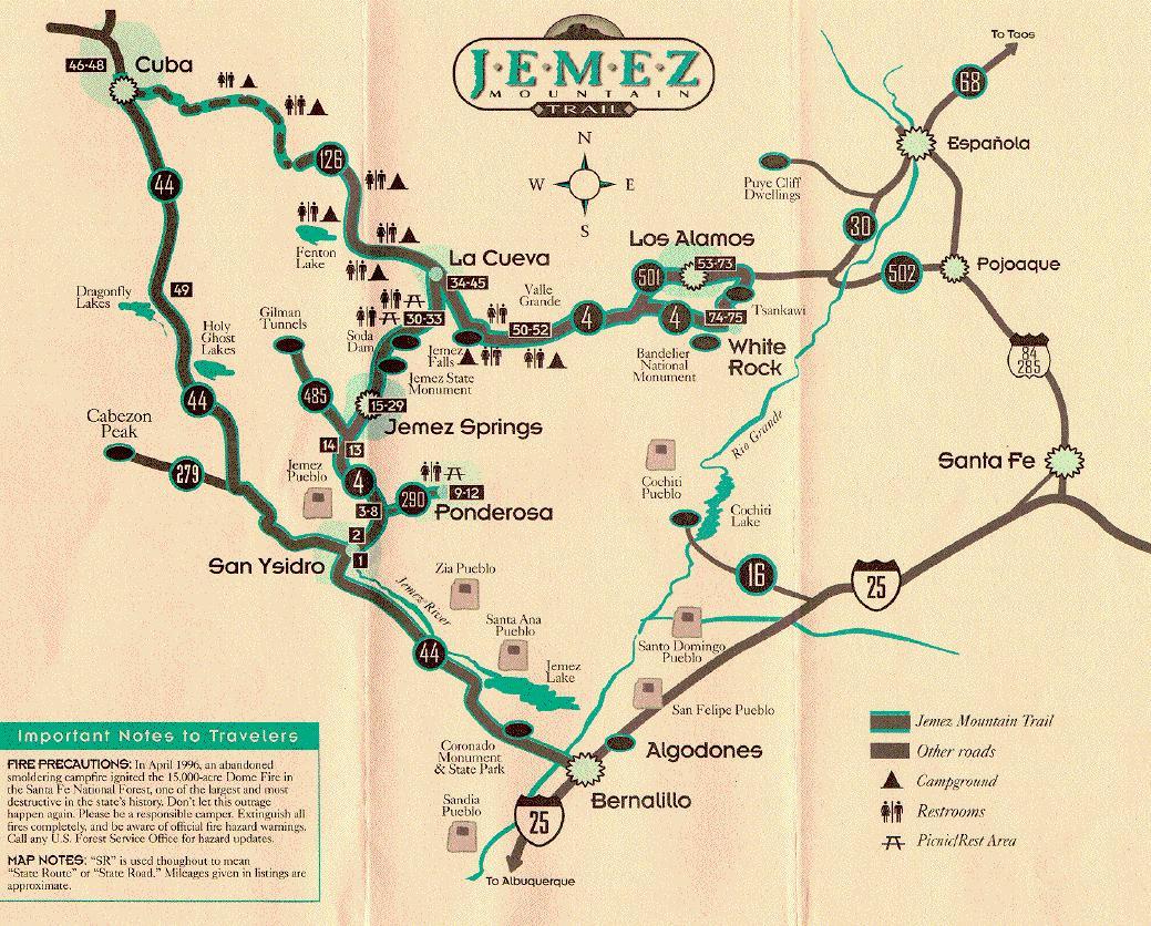 Visitor information – Santa Fe Tourist Map